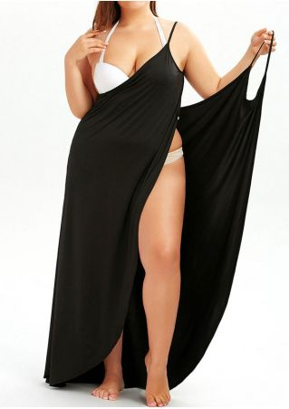 Solid Cross Spaghetti Strap Backless Maxi Dress