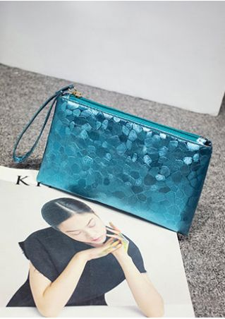 Splicing Zipper Hand Bag