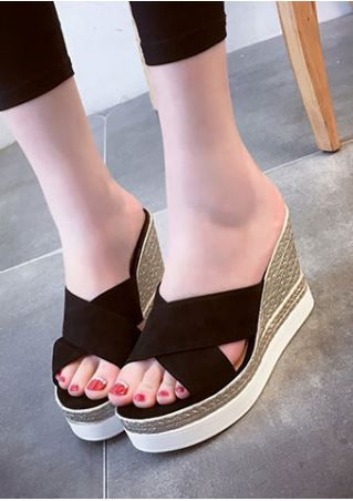Summer Cross Wedge Sandals