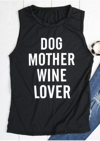 Dog Mother Wine Lover Tank