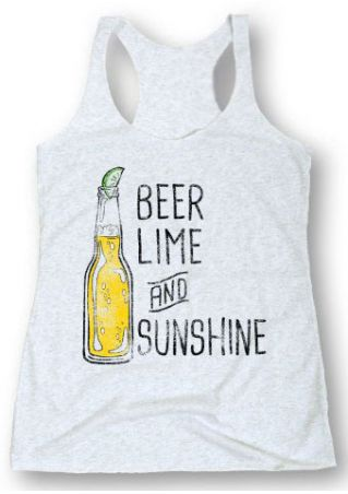 Beer Lime And Sunshine Tank