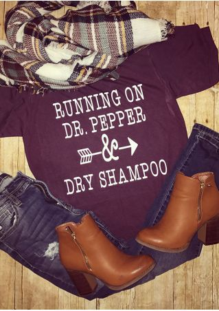 Running On Dr. Pepper Dry Shampoo T-Shirt Running