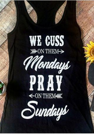 We Cuss On Them Mondays Tank
