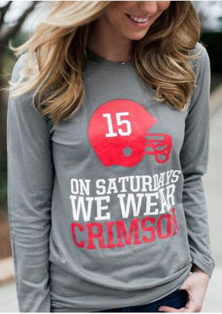 On Saturdays We Wear Crimson T-Shirt without Necklace