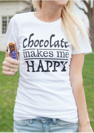 Chocolate Makes Me Happy T-Shirt