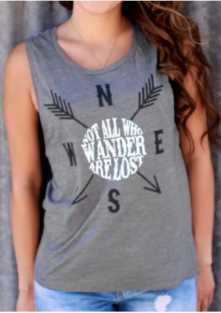 Not All Who Wander Are Lost Tank without Necklace