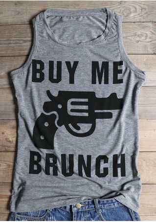 Buy Me Brunch Revolver Printed Tank