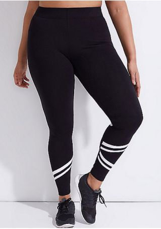 Striped Splicing Skinny Sport Pants