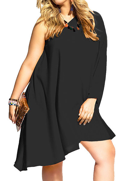 a1cf6af08b9 One Shoulder Casual Dress without Necklace. Zoom