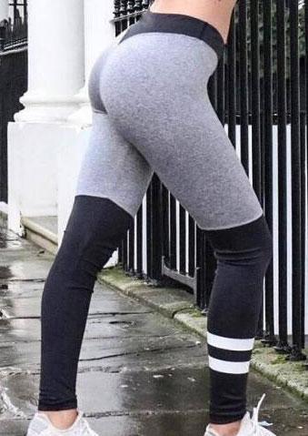 Image of Color Block Splicing Sport Pants