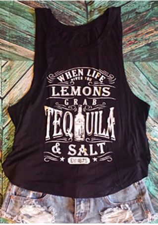 When Life Gives You Lemons Grab Tequila & Salt Tank