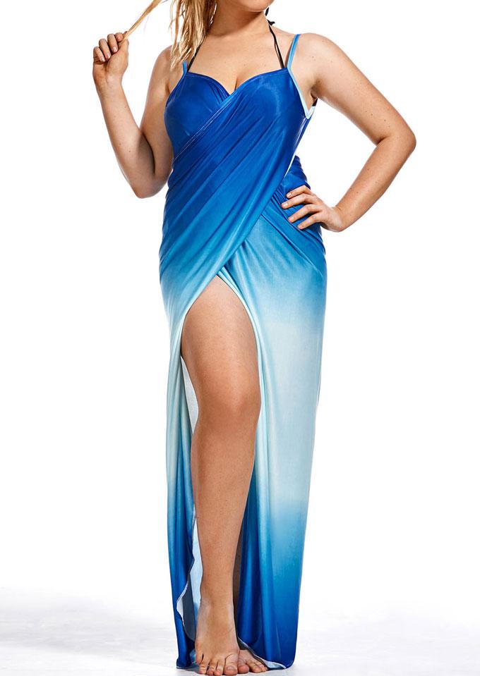 Image of Cross Spaghetti Strap Maxi Dress