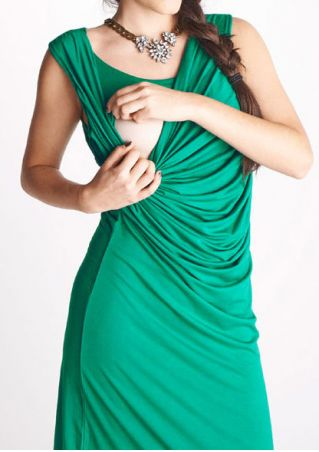 Solid Ruffled Lactation Mini Dress without Necklace