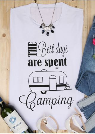 Best Days Are Spent Camping T-Shirt Best