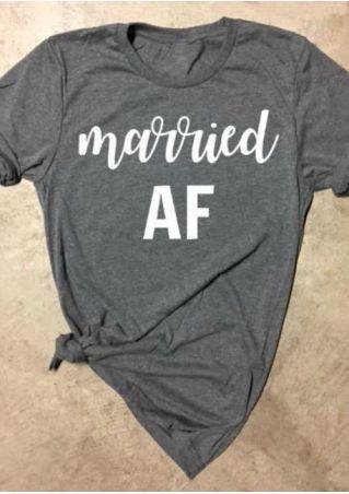 Married AF Short Sleeve T-Shirt