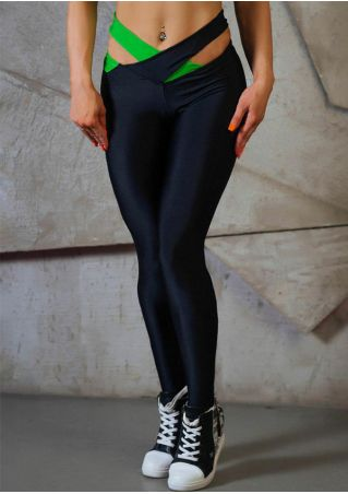 Cross Splicing Skinny Sport Pants