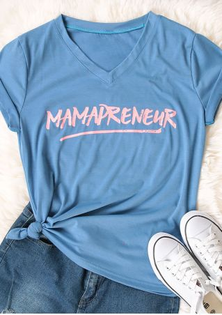 Mamapreneur Short Sleeve V-Neck T-Shirt