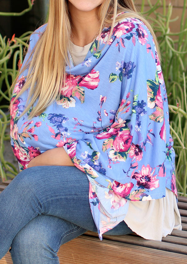Image of Floral Carseat Cover Nursing Lactation Poncho