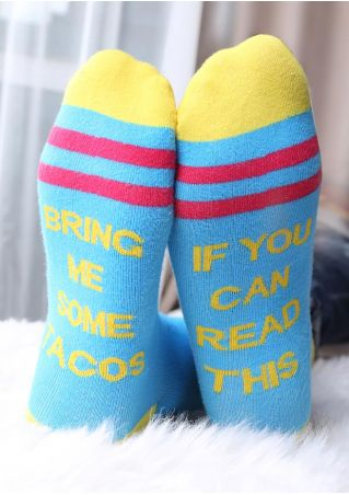 If You Can Read This Color Block Socks