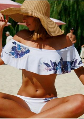 Floral Layered Bikini Set without Necklace