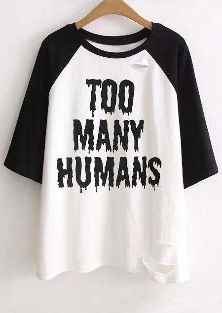 plus size halloween too many humans hole baseball t shirt zoom
