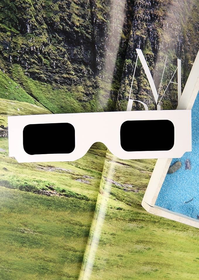 Sunglasses Paper Frame Solar Eclipse Glasses in White. Size: One Size фото