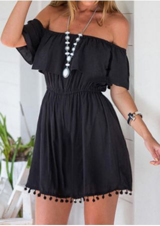 Solid Off Shoulder Romper without Necklace