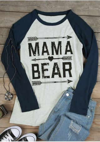 Mama Bear Long Sleeve Baseball T-Shirt