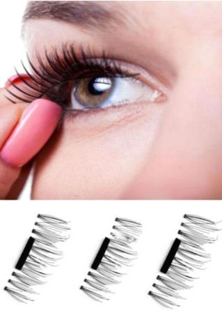 3D Soft Makeup A Single Magnet False Eyelashes