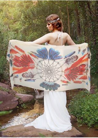 Multicolor Dream Catcher Wing Cape