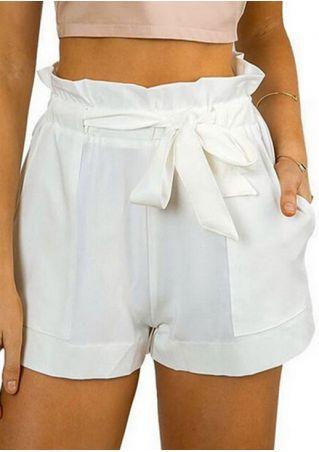 Solid Pocket Shorts with Belt