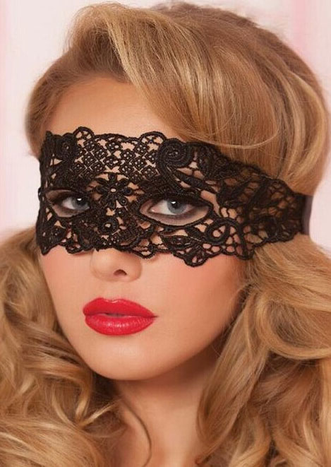 Halloween Solid Lace Floral Hollow Out Mask Fairyseason