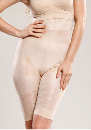 Solid Slim Shorts Shapewear