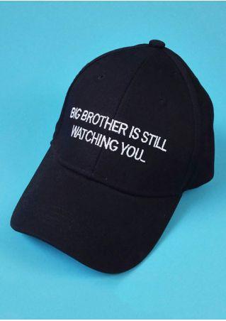 Letter Printed Adjustable Baseball Hat