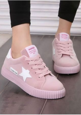 Fashion Star Lace Up Sneakers