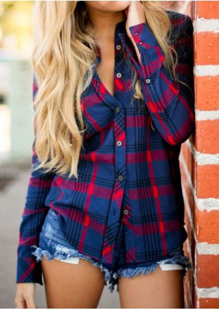 Plaid Long Sleeve Button Shirt