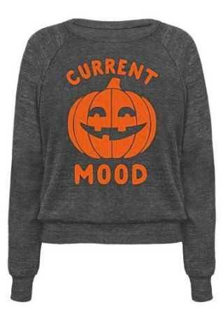Halloween Current Mood Pumpkin Face Sweatshirt