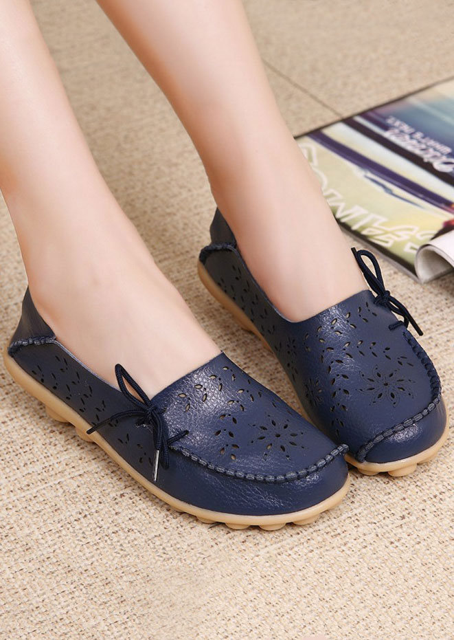 Image of Hollow Out Lace Up Flats