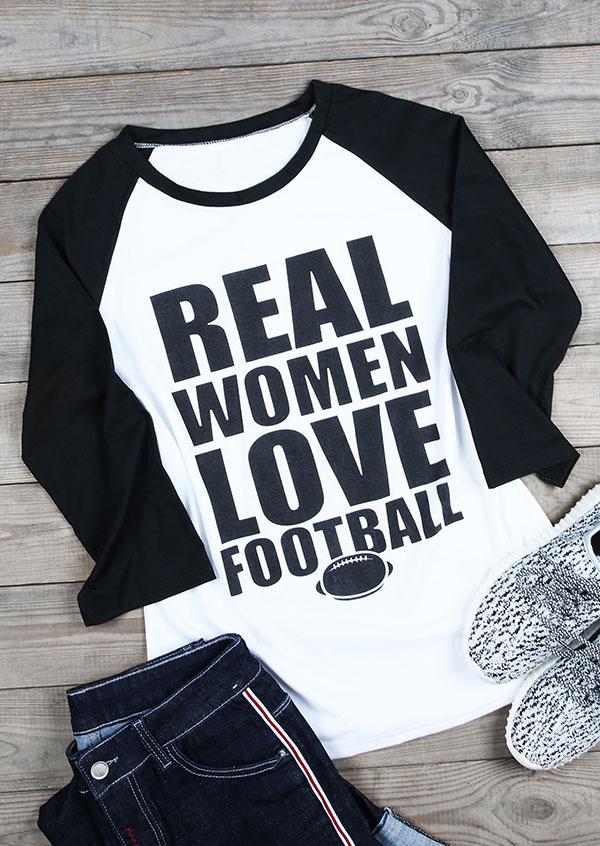 Real Women Love Football Baseball T Shirt Fairyseason