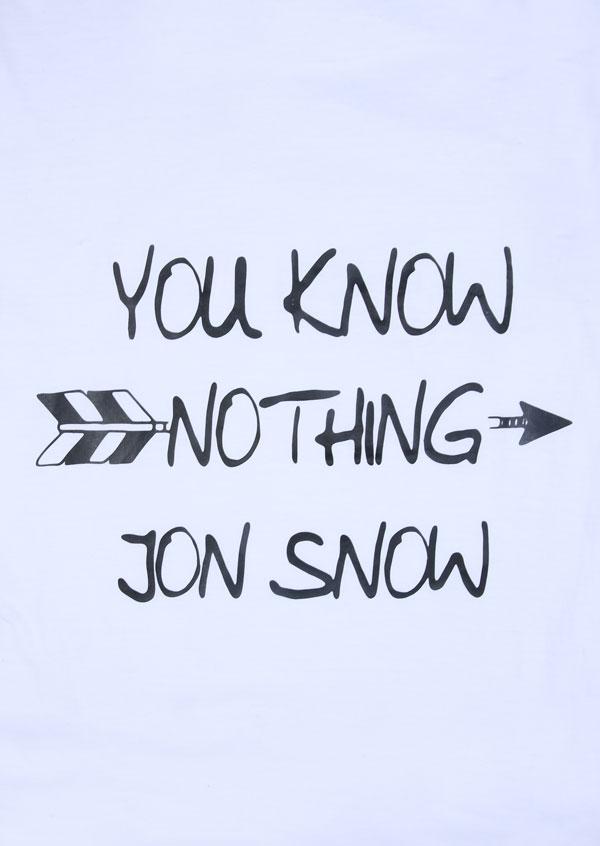 You Know Nothing Jon Snow Arrow T Shirt Fairyseason