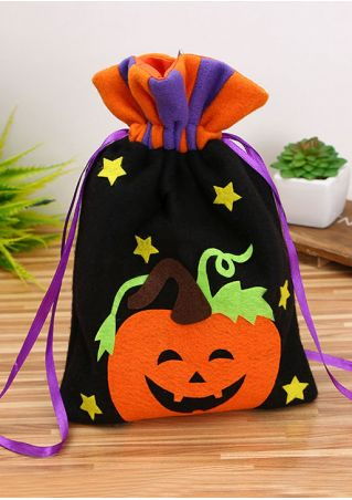 Halloween Applique Star Candy Bag