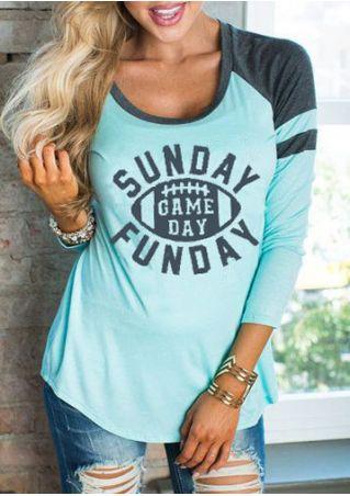 Sunday Gameday Funday O-Neck T-Shirt