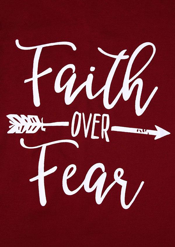 Faith Over Fear Arrow Batwing Sleeve T Shirt Fairyseason