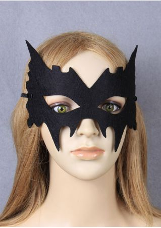 Halloween Solid Half Face Felt Mask