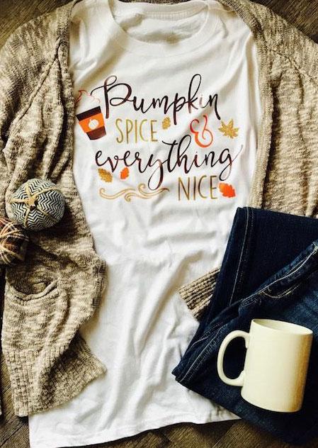 Halloween Pumpkin Spice Amp Everything Nice T Shirt