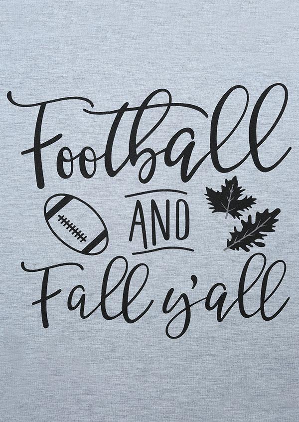 Football And Fall Y All Baseball T Shirt Fairyseason