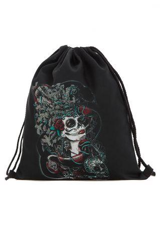 Skull Drawstring Backpack