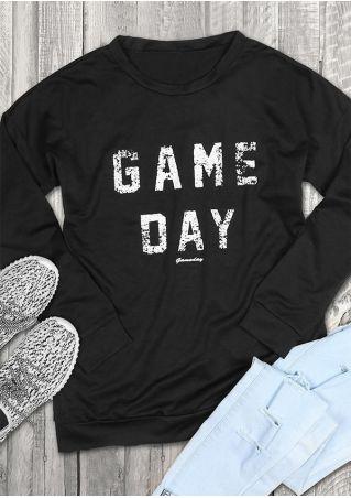 Game Day O-Neck Long Sleeve Sweatshirt