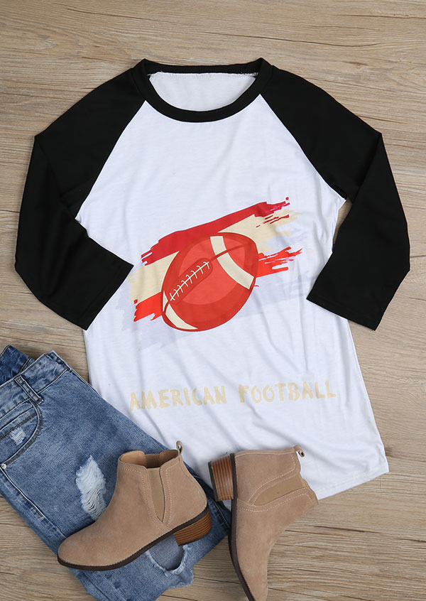 American Football O Neck Baseball T Shirt Fairyseason