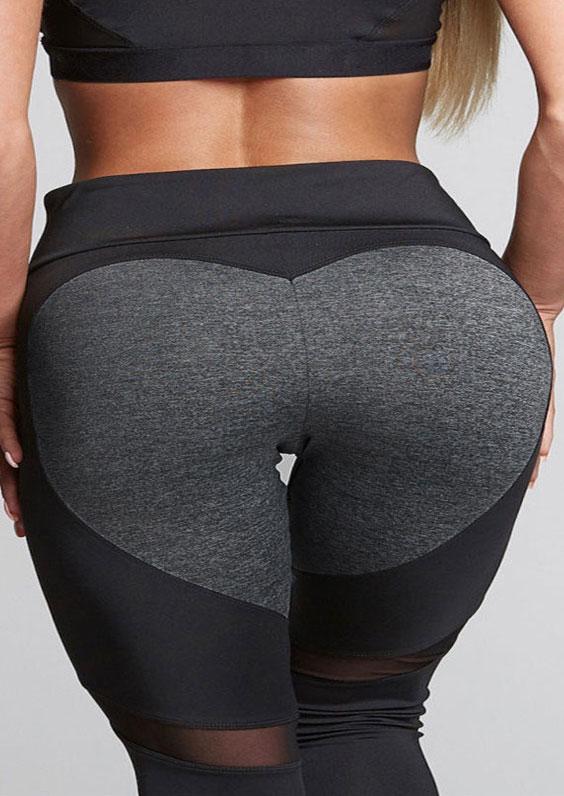 Image of Color Block Mesh Splicing Sport Pants